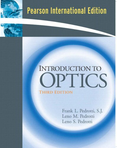 9780131971332: Introduction to Optics: International Edition