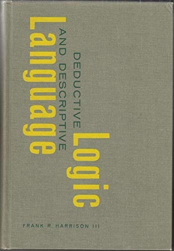 9780131972285: Deductive Logic and Descriptive Language