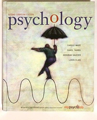 9780131973954: PSYCHOLOGY (CANADIAN ED)