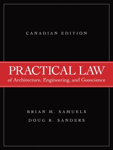 Practical Law of Architecture, Engineering, and Geoscience: Samuels, Brian M.,