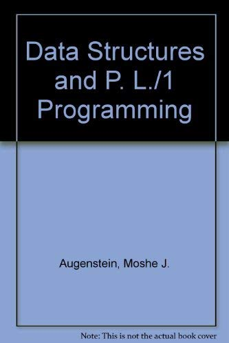 9780131977310: Data Structures and Pl/I Programming
