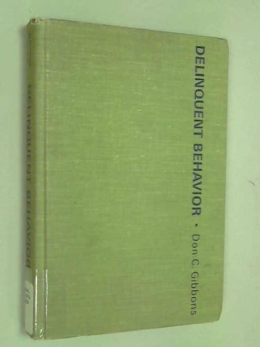 9780131978973: Delinquent Behaviour (Prentice-Hall sociology series)