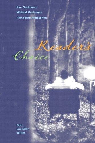Reader's Choice, Fifth Canadian Edition: Kim Flachmann, Michael