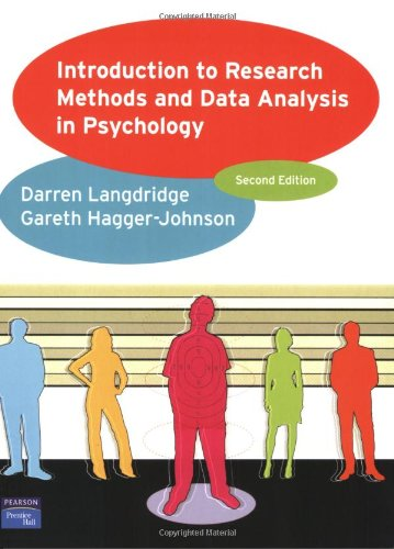 9780131982031: Introduction to Research Methods and Data Analysis in Psychology