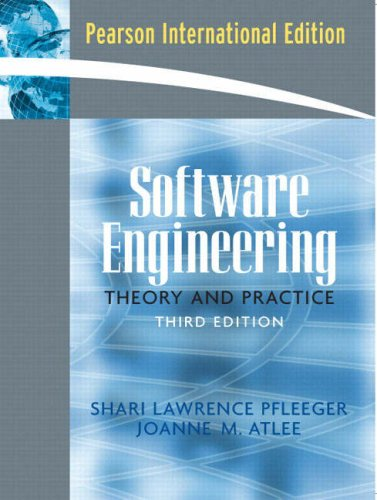 Software Engineering: International Edition: Theory and Practice: Atlee, Joanne M.