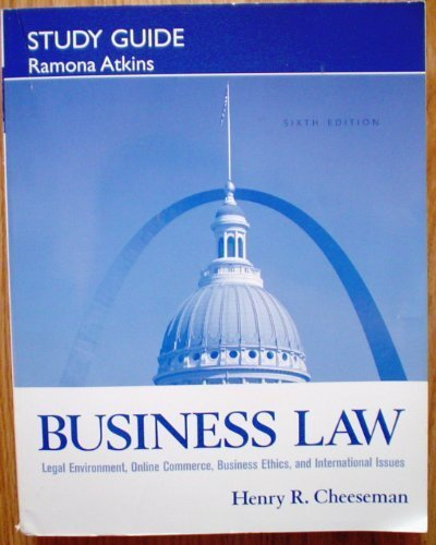 9780131985001: Study Guide for Business Law