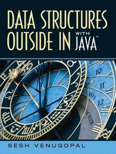 Data Structures Outside-In with Java: Venugopal, Sesh