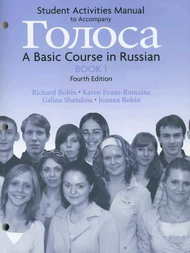 9780131986299: Student Activities Manual to Accompany A Basic Course in Russian, Book 1