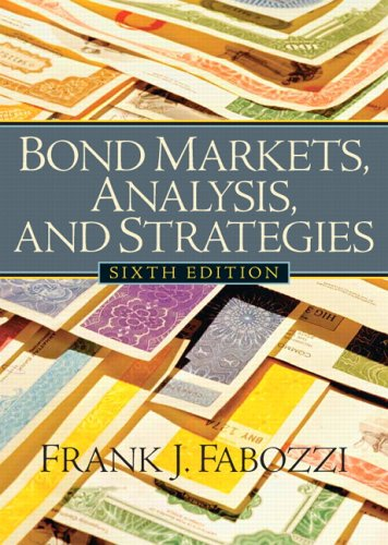 9780131986435: Bond Markets, Analysis and Strategies: United States Edition