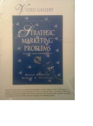 9780131986817: Strategic Marketing Problems: Cases and Comments (Video Gallery DVD Collection)