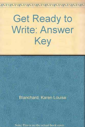9780131987791: Get Ready to Write: A Beginning Writing Text