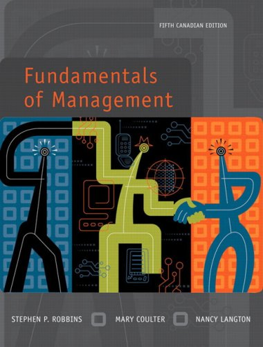 Fundamentals of Management, Fifth Canadian Edition: Stephen P.; Coulter