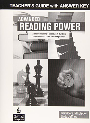 9780131990289: Advanced Reading Power: Teacher's Guide with Answer Key