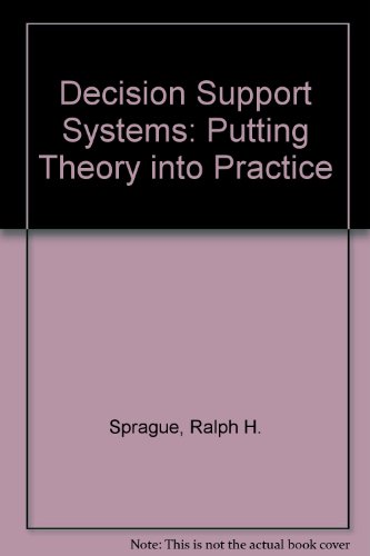 9780131990357: Decision Support Systems: Putting Theory into Practice