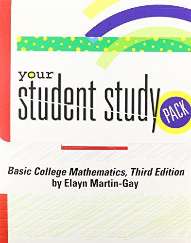 SA Student Study Pak: Elayn Martin-Gay