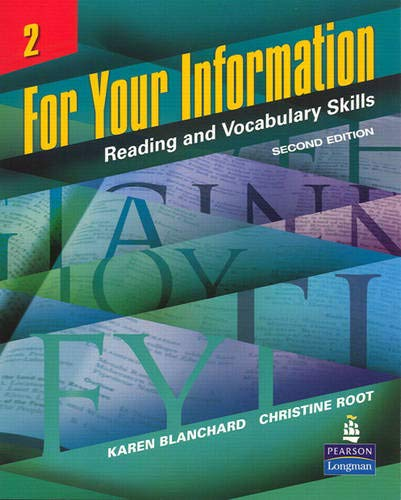 9780131991828: For Your Information 2: Reading and Vocabulary Skills: Reading and Vocabulary Skills v. 2