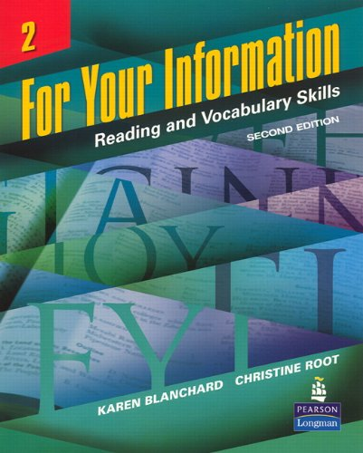 9780131991828: For Your Information 2: Reading and Vocabulary Skills, Second Edition