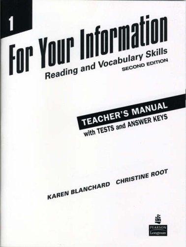For Your Information 1: v. 1: Reading: Blanchard, Karen Louise,