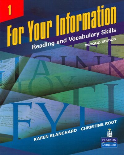 9780131991866: For Your Information 1: Reading and Vocabulary Skills, 2nd Edition