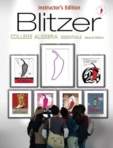 9780131992238: College Algebra Essential, Instructor's Edition (Book & CD)
