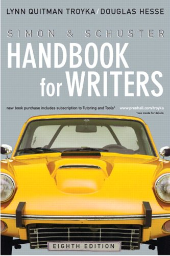 9780131993846: Simon & Schuster Handbook for Writers (8th Edition) (MyCompLab Series)