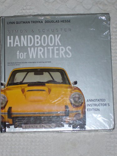 9780131993860: Simon & Schuster Handbook for Writers: Annotated Instructor's Edition