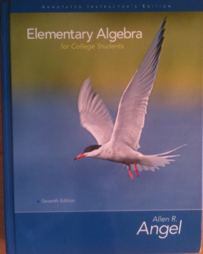Elementary Algebra for College Students: Allen R. Angel