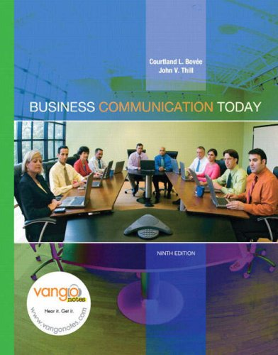 9780131995352: Business Communication Today