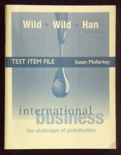 9780131997899: Test Item File: International Business (Wild, Wild & Han)