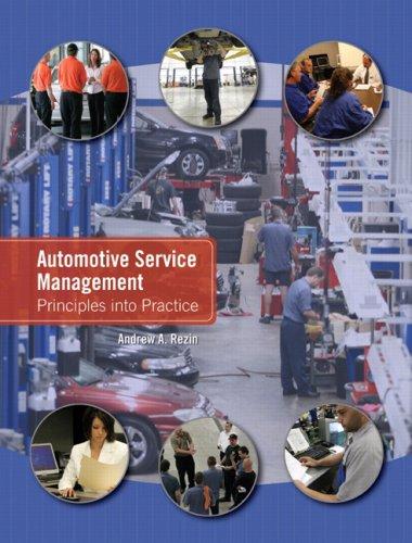 9780131998636: Automotive Service Management