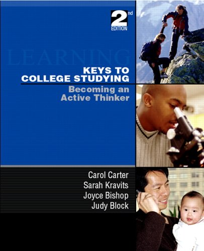 9780131999848: Keys to College Studying: Becoming an Active Thinker & Prentice Hall Guide Research Navigation Pkg. (2nd Edition)