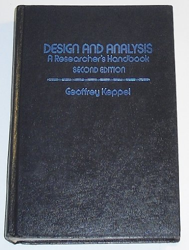 9780132000482: Design and Analysis - A Researcher's Handbook