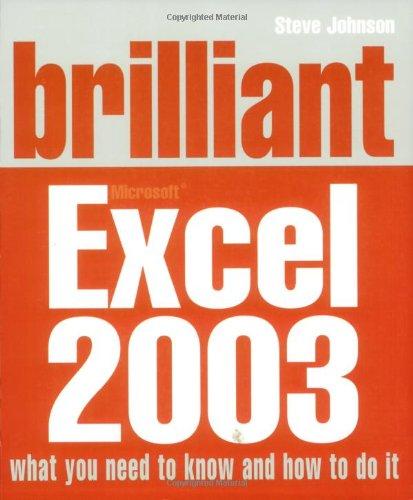 9780132001328: Brilliant Excel 2003
