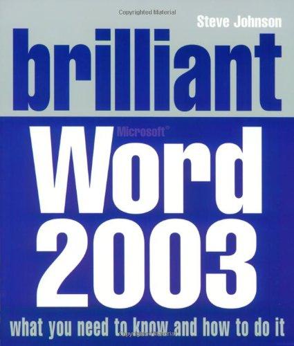9780132001366: Brilliant Word 2003