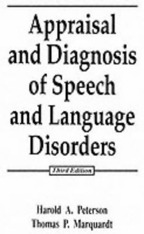 9780132001496: Appraisal and Diagnosis of Speech and Language Disorders