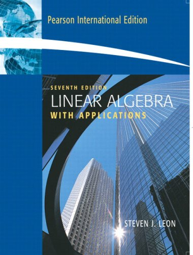 9780132003063: Linear Algebra: With Applications