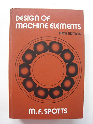 9780132005760: Design of Machine Elements