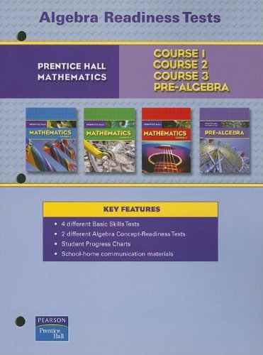 9780132013901: PRENTICE HALL MATH ALGEBRA READINESS TESTS BLACKLINE MASTERS 2007