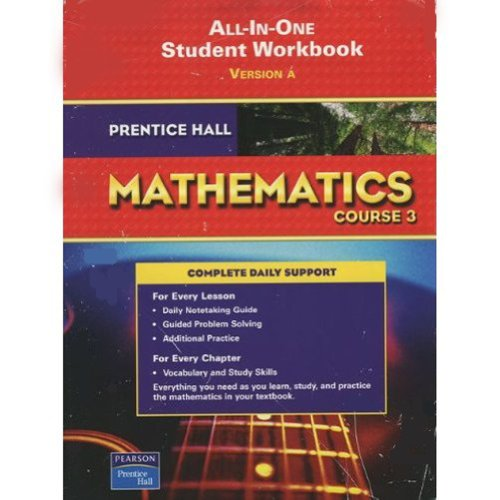9780132013956: PRENTICE HALL MATH COURSE 3 STUDENT WORKBOOK 2007C