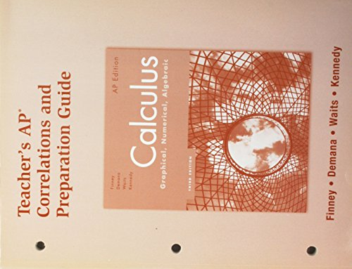 9780132014137: Calculus: teachers ap correlations and preparation guide