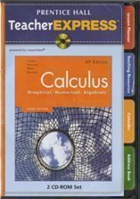 9780132014229: Prentice Hall Calculus: Graphical, Numerical, Algebraic, AP Edition (TeacherExpress)