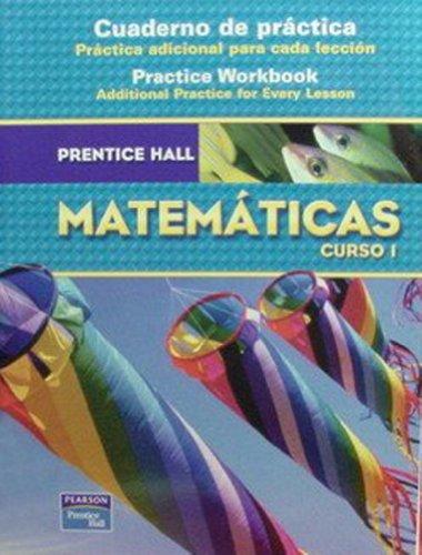 9780132014373: Prentice Hall matemáticas, Curso 2: Cuaderno de práctica (Spanish Edition)