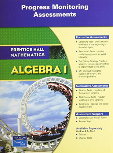 9780132014649: PRENTICE HALL MATH ALGEBRA 1 PMA (PROGRESS MONITORING ASSESSMENT) BLACKLINE MASTERS 2007