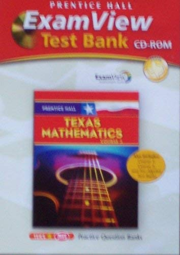 9780132014755: Prentice Hall Texas Mathematics Course 3 Exam View Test Bank Cd-rom