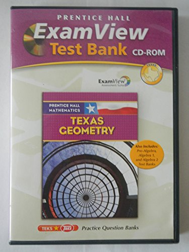 9780132014793: EXAMVIEW TEST BANK CD-ROM.TEXAS GEOMETRY.