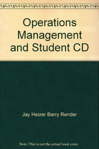 9780132016391: Operations Management and Student CD