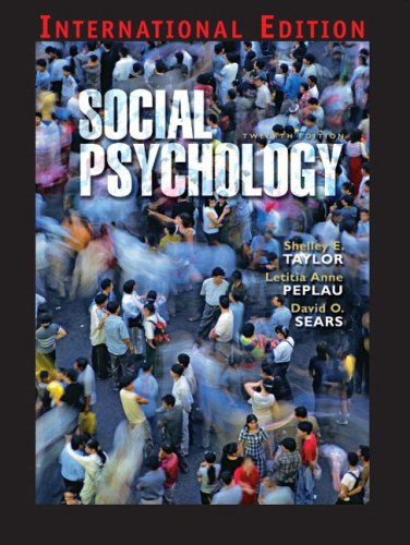 9780132017084: Social Psychology: International Edition