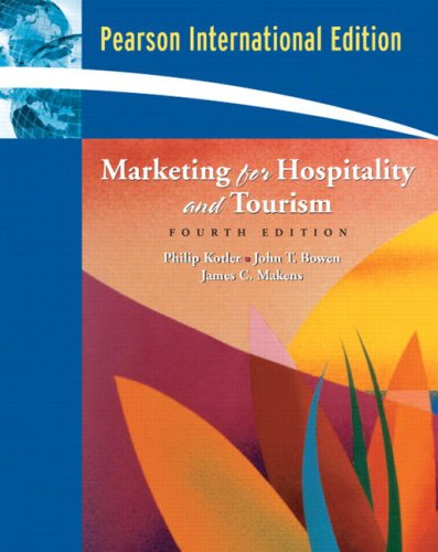 9780132017732: Marketing for Hospitality and Tourism: International Edition