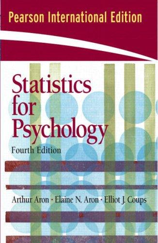 Statistics for Psychology: International Edition: Coups Ph.D., Elliot