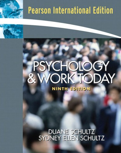 9780132018142: Psychology and Work Today: an Introduction to Industrial and Organizational Psychology